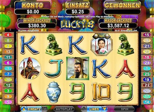 Lucky 8 RTG Spielautomat