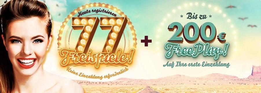 77 Freispiele bei 777 Casino