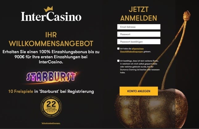 No Deposit Bonus in Intercasino