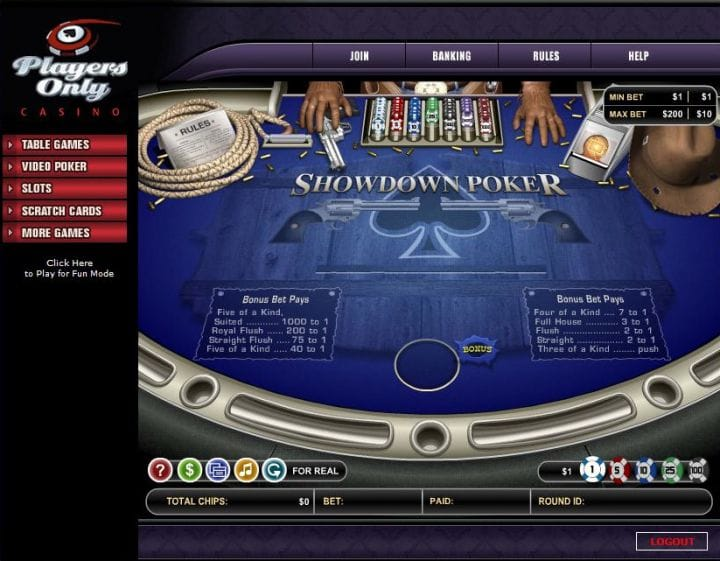 Showdown Poker kostenlos