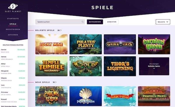 Slot Planet - neue Freispiele